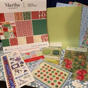 Christmas Collection & Martha Stewart Paper Pads
